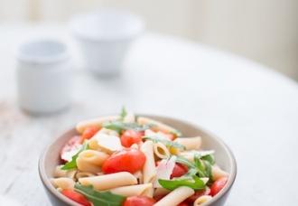 Penne, Tomatoes, Arugula & Shaved Pecorino Romano