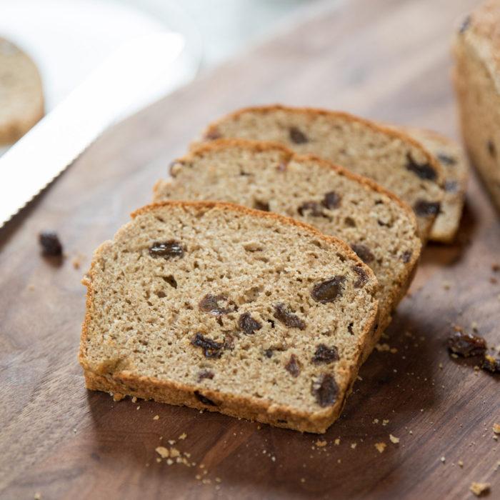 Gluten Free Cinnamon Raisin Bread with Yeast Recipe ...